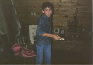 Ivan with improvised weapon, Colorado, Spring 1987.