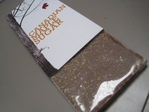 Maple Crusted Milk Chocolate from Nova Scotia